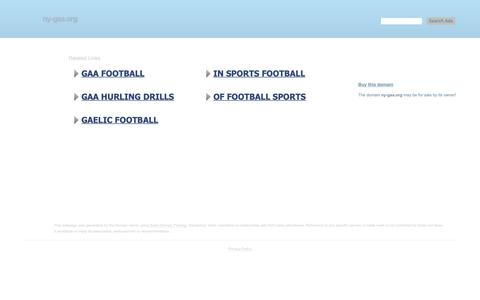 Screenshot of Home Page ny-gaa.org - ny-gaa.org-This website is for sale!-ny-gaa Resources and Information. - captured Nov. 22, 2018