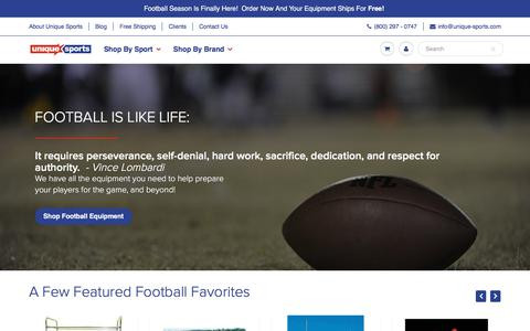Screenshot of Home Page unique-sports.com - Unique-Sports: Sports Equipment For Players & Athletic Programs - captured Sept. 11, 2018