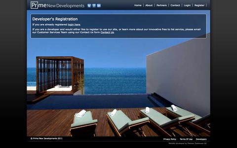Screenshot of Developers Page primenewdevelopments.com - Prime New Developments- Developers - captured Oct. 2, 2014