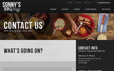 Contact Us | Sonny's BBQ
