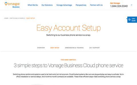 Vonage Business Phone Setup | Vonage Business