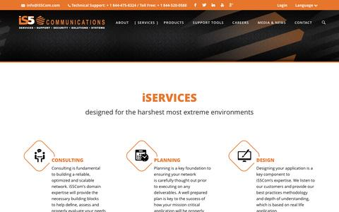 Screenshot of Services Page is5com.com - iS5 Communications » iSERVICES - captured Nov. 26, 2016