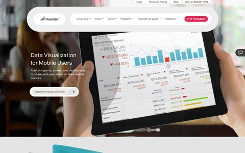 Roambi | Mobile Analytics | Mobile Reporting | Mobile BI