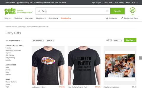 Party Gifts & Merchandise | Party Gift Ideas & Apparel - CafePress