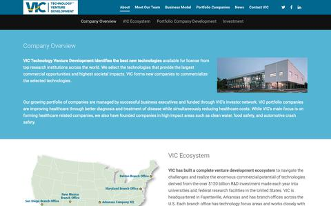Screenshot of About Page victvd.com - About – VIC - captured Oct. 18, 2018