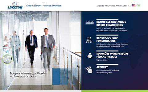 Screenshot of Home Page lockton.com.br - Lockton Brasil - Corretora de seguros - captured Sept. 18, 2015