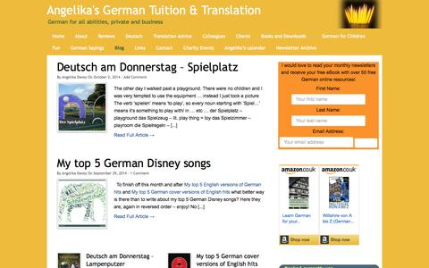 Screenshot of Blog angelikasgerman.co.uk - Blog - Angelika's German Tuition & Translation - captured Oct. 4, 2014
