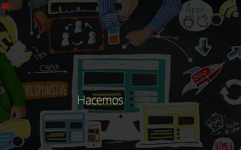 Screenshot of Home Page cohete.net - Marketing digital, Medellín, diseño desarrollo web, SEO, DNN, email, responsive, SEM, Cohete - captured March 15, 2018