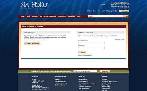 Screenshot of Login Page nahoku.com - Customer Login - captured Nov. 1, 2014