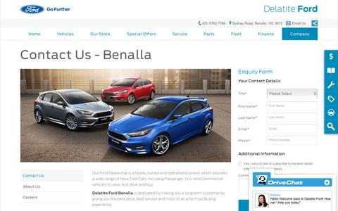Screenshot of Hours Page delatiteford.com.au - Contact Us   Benalla, VIC - Delatite Ford - captured Nov. 1, 2018