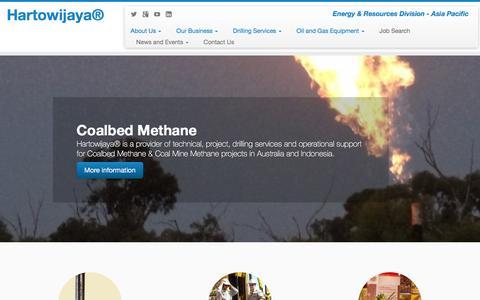 Screenshot of Home Page hartowijaya.com - Hartowijaya® – Energy & Resources Division – Asia Pacific - captured Jan. 26, 2016