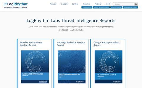 Threat Intelligence Reports | LogRhythm