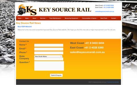Screenshot of Press Page keysourcerail.com.au - Key Source Rail News   Key Source Rail - captured Oct. 6, 2014