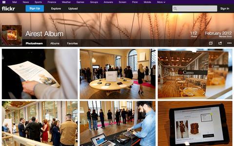 Screenshot of Flickr Page flickr.com - Flickr: Airest Album's Photostream - captured Oct. 23, 2014