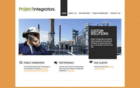 Screenshot of Home Page project-integrators.com - Project Integrators - captured Sept. 30, 2014