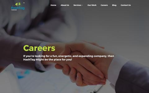 Screenshot of Jobs Page hashtagtechnologies.com - HashTag Technologies | Careers - captured May 15, 2017