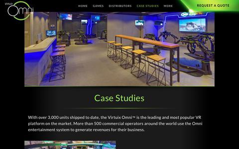 Screenshot of Case Studies Page virtuix.com - Case Studies | Virtuix Omni - captured Sept. 22, 2018