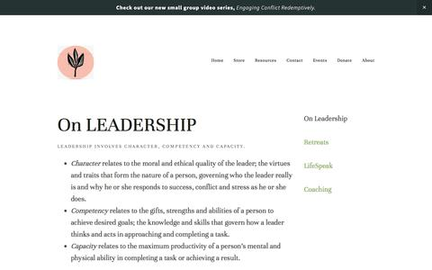 Leadership Resources — Restoring the Church
