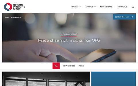 Screenshot of Press Page opg.net - News & Events - captured Nov. 2, 2014