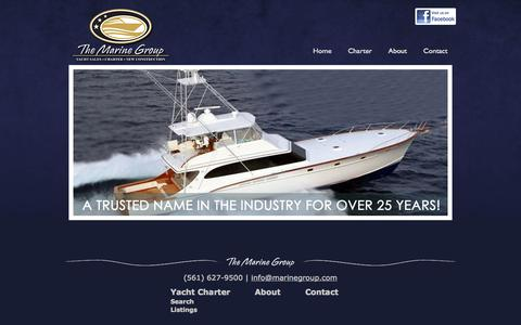 Screenshot of Home Page marinegroup.com - The Marine Group - captured Oct. 6, 2014