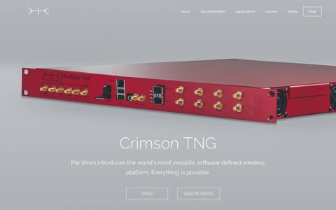 Screenshot of Home Page pervices.com - Crimson TNG - Per Vices - captured July 31, 2017