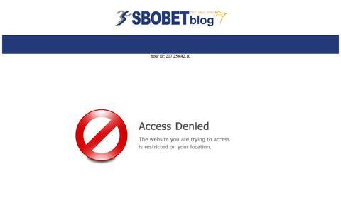 Screenshot of Blog sbobet.com - SBOBET   Betting Odds, Sports News, Bet Picks from SBOBET Blog - captured July 25, 2018