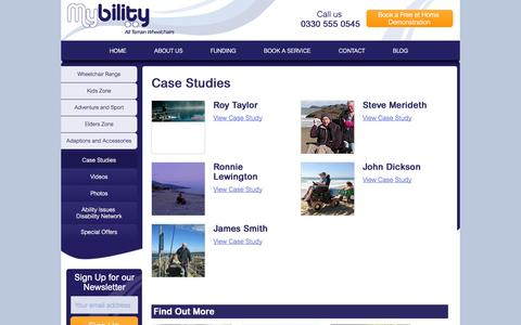 Screenshot of Case Studies Page mybility.co.uk - Casestudies Archive - Mybility - captured Oct. 26, 2014
