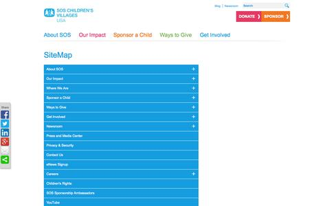 Screenshot of Site Map Page sos-usa.org - SiteMap - captured Sept. 23, 2014