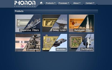 Screenshot of Products Page phonon.com - Phonon Corp. - Products - captured Oct. 2, 2014