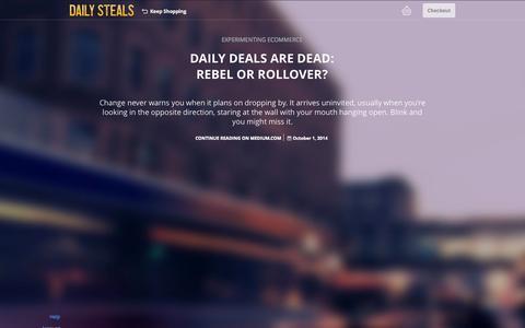 Screenshot of Blog dailysteals.com - DailySteals - captured Oct. 29, 2014