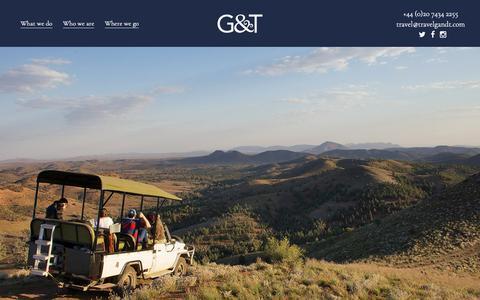 Screenshot of Home Page travelgandt.com - G&T - Travel Mixologists - captured Dec. 19, 2018