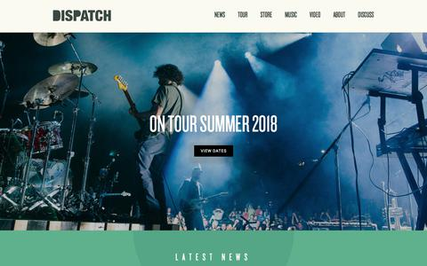 "Screenshot of Home Page dispatchmusic.com - Dispatch - New Album ""America, Location 12"" Available Now! - captured July 3, 2018"