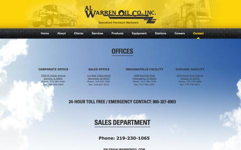 Screenshot of Contact Page alwarrenoil.com - Contact «  Al Warren Oil - captured Oct. 4, 2014