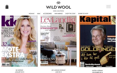 Screenshot of Press Page wildwool.no - Arkiv for Press - WILD WOOL - captured Nov. 16, 2017