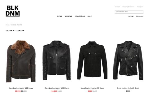 LUXURY LEATHER JACKETS & COATS — BLK DNM