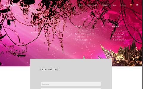 Screenshot of Contact Page hccrea.com - Contact - Heartcore - captured Nov. 6, 2016