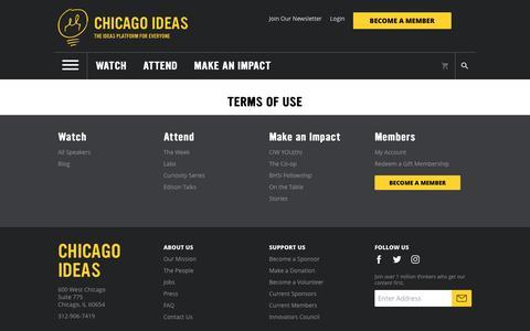 Screenshot of Terms Page chicagoideas.com - Chicago Ideas Week - captured Nov. 5, 2016