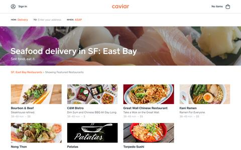 Seafood delivery in SF: East Bay | Caviar