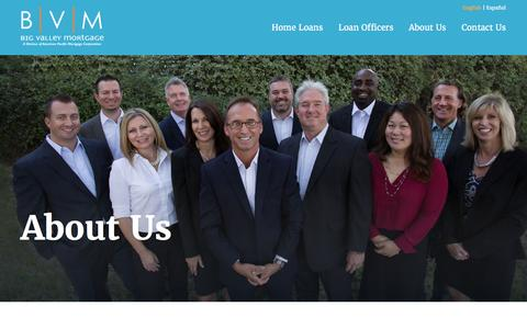 Screenshot of About Page bigvalleymortgage.com - About Us | Big Valley Mortgage - captured Jan. 3, 2016