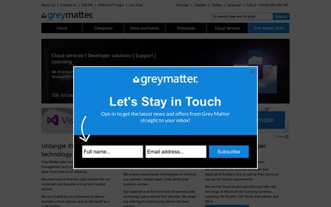 Screenshot of Home Page greymatter.com - Home Page - Grey Matter - captured Sept. 30, 2018