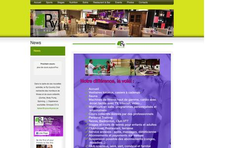 Screenshot of Press Page rycountryclub.be - News :: Ry Country Club - sport, tennis, badminton, fitness, cours collectifs, spinning, école, stage, séminaire, restaurant à Wavre - captured Feb. 13, 2016