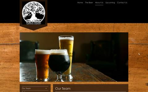 Screenshot of Team Page publichousebrewery.com - Public House Brewing Company - Our Team - captured Feb. 1, 2016
