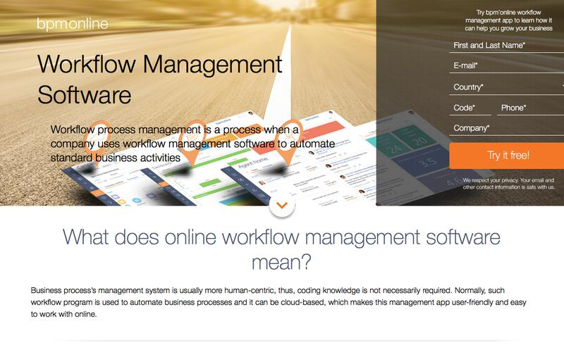 Workflow Management Software from bpm'online #1 CRM tool
