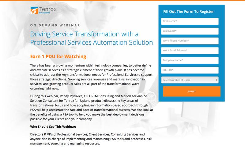 Best Practices for Maximizing the ROI of your Professional Services Automation Solution Webinar
