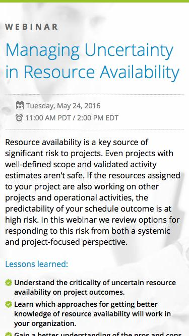 Eclipse PPM Webinar: Managing Uncertainty in Resource Availability