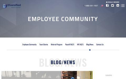 Screenshot of Blog diversifiedm.com - Blog/News - Diversified Maintenance - captured Jan. 9, 2020