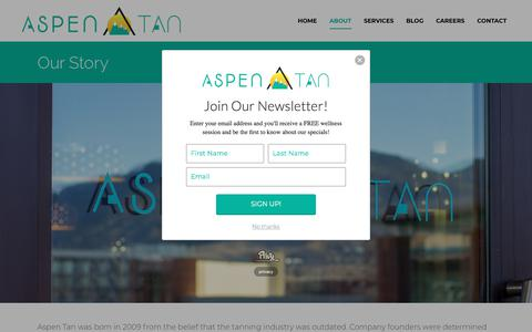 Screenshot of About Page aspentan.com - Aspen Tan is proud to be a colorado-based business! - captured July 30, 2018