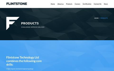 Screenshot of Products Page flint-tech.com - Products | Flintstone Technology Ltd - captured Feb. 10, 2016