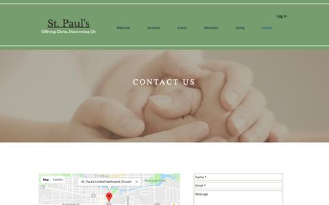 Screenshot of Contact Page stpaulsfindlay.org - St. Paul's Church | Contact - captured Oct. 18, 2018
