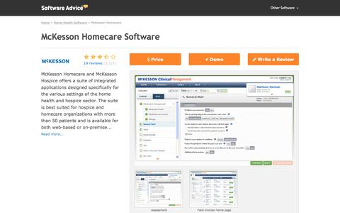 McKesson Homecare Software - 2017 Reviews, Pricing & Demo
